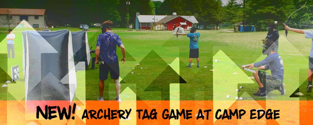 Archery tag game at Camp Edge