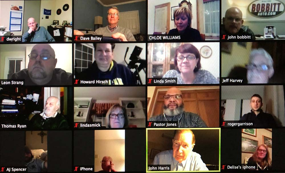 Zoom call with 16 people